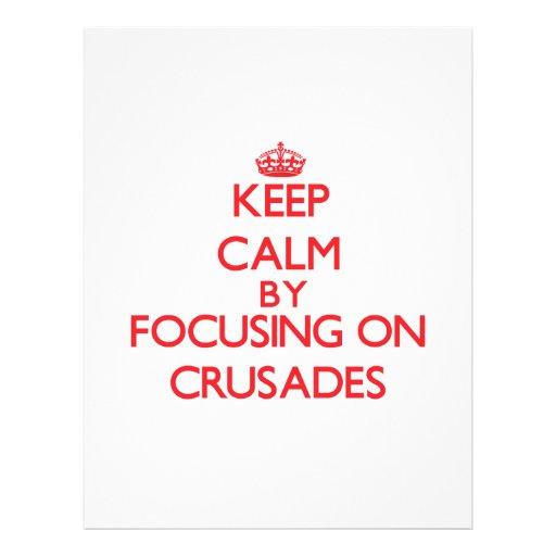 Mantenha a calma centrando-se sobre cruzadas panfletos