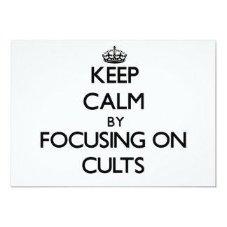 Mantenha a calma centrando-se sobre cultos convite personalizado