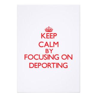 Mantenha a calma centrando-se sobre Deporting Convites