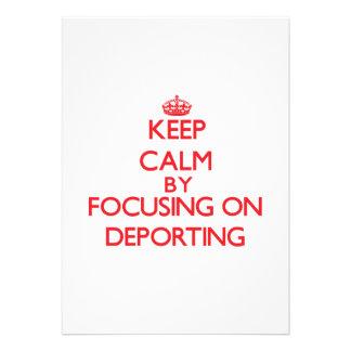 Mantenha a calma centrando-se sobre Deporting Convites Personalizado