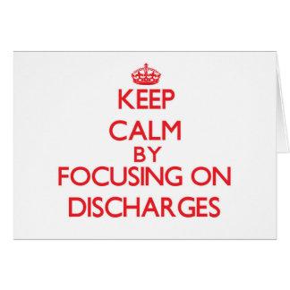 Mantenha a calma centrando-se sobre descargas cartões