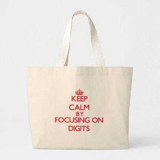 Mantenha a calma centrando-se sobre dígitos bolsas para compras