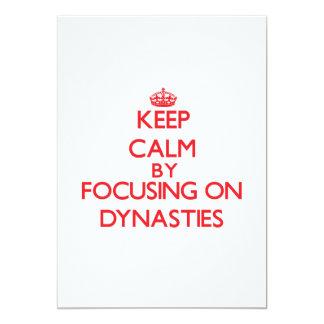 Mantenha a calma centrando-se sobre dinastias convite 12.7 x 17.78cm