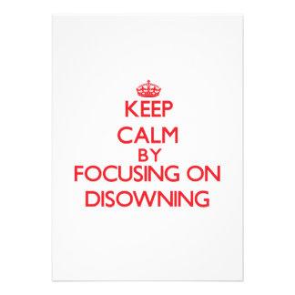 Mantenha a calma centrando-se sobre Disowning Convites Personalizados