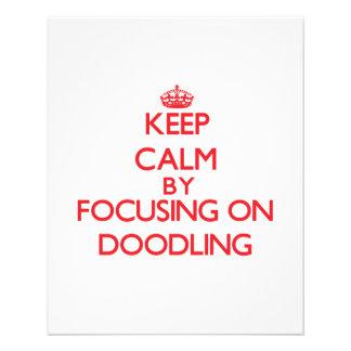 Mantenha a calma centrando-se sobre Doodling Panfleto