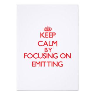 Mantenha a calma centrando-se sobre EMITIR-SE Convite