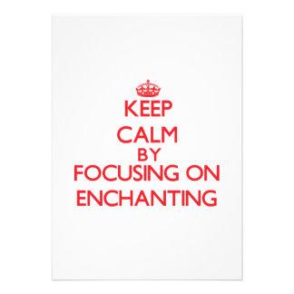 Mantenha a calma centrando-se sobre ENCHANTING Convites