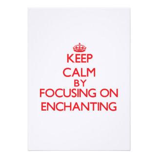 Mantenha a calma centrando-se sobre ENCHANTING Convites Personalizado