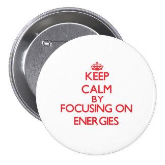 Mantenha a calma centrando-se sobre ENERGIAS Boton