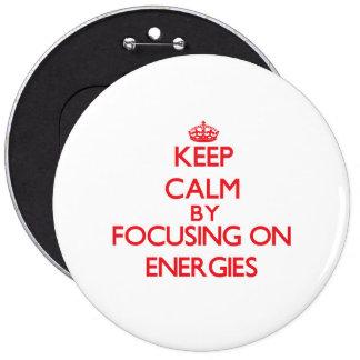 Mantenha a calma centrando-se sobre ENERGIAS Botons