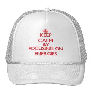 Mantenha a calma centrando-se sobre ENERGIAS Boné