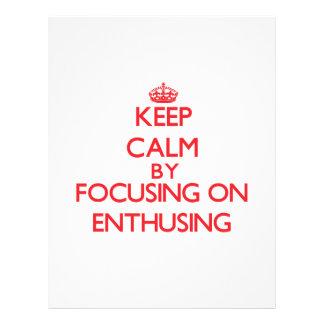 Mantenha a calma centrando-se sobre ENTHUSING Modelo De Panfleto