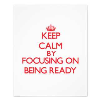 Mantenha a calma centrando-se sobre estar pronto panfleto