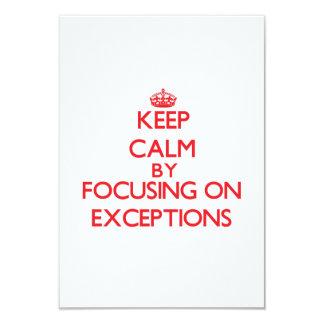 Mantenha a calma centrando-se sobre EXCEÇÕES Convites