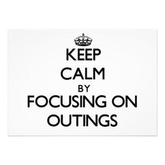 Mantenha a calma centrando-se sobre excursões