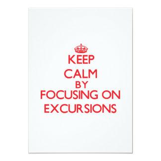Mantenha a calma centrando-se sobre EXCURSÕES Convites