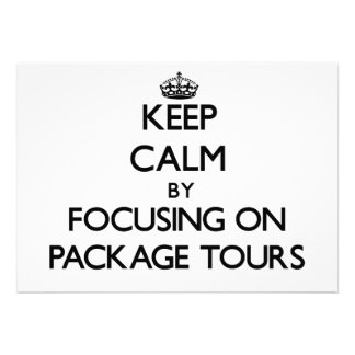 Mantenha a calma centrando-se sobre excursões de p
