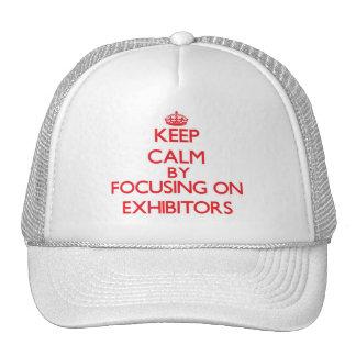 Mantenha a calma centrando-se sobre EXPOSITORES Boné