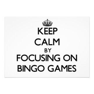 Mantenha a calma centrando-se sobre jogos do Bingo
