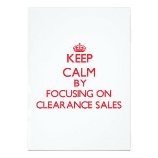 Mantenha a calma centrando-se sobre liquidações convite 12.7 x 17.78cm