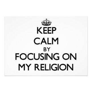 Mantenha a calma centrando-se sobre minha religião
