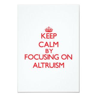 Mantenha a calma centrando-se sobre o altruísmo convites personalizado
