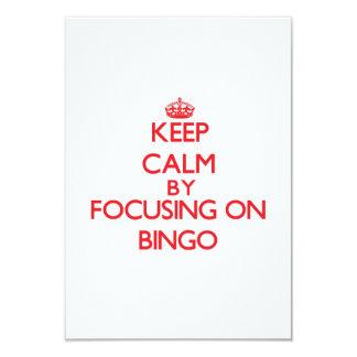 Mantenha a calma centrando-se sobre o Bingo Convite Personalizado
