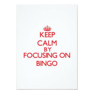 Mantenha a calma centrando-se sobre o Bingo Convite