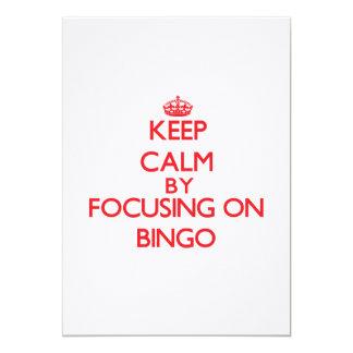 Mantenha a calma centrando-se sobre o Bingo Convites Personalizado