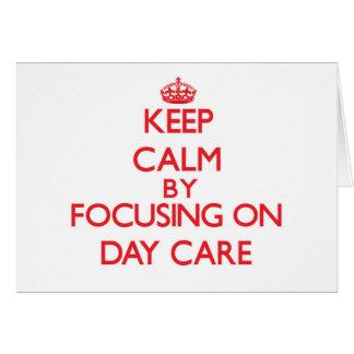 Mantenha a calma centrando-se sobre o centro de cartoes