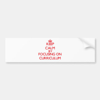 Mantenha a calma centrando-se sobre o currículo adesivo