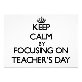 Mantenha a calma centrando-se sobre o dia dos prof convite personalizado