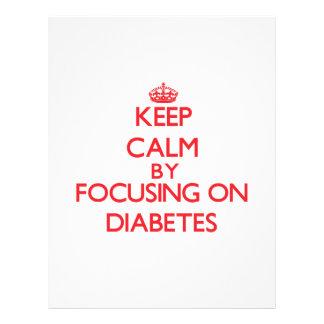 Mantenha a calma centrando-se sobre o diabetes modelos de panfleto