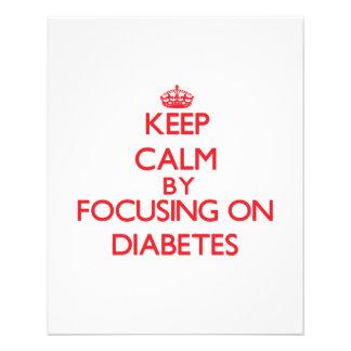 Mantenha a calma centrando-se sobre o diabetes panfletos coloridos