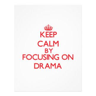 Mantenha a calma centrando-se sobre o drama panfleto personalizados