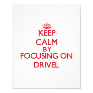 Mantenha a calma centrando-se sobre o Drivel Panfleto Personalizado