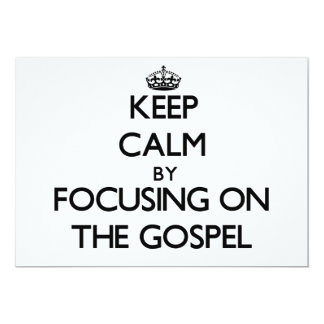 Mantenha a calma centrando-se sobre o evangelho convite 12.7 x 17.78cm