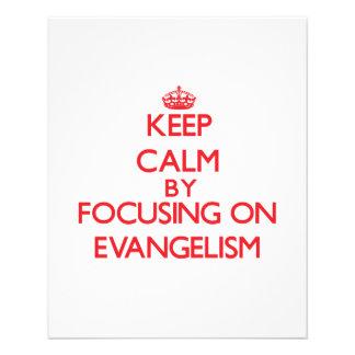 Mantenha a calma centrando-se sobre o EVANGELISMO Modelo De Panfleto
