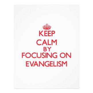Mantenha a calma centrando-se sobre o EVANGELISMO Panfletos Coloridos