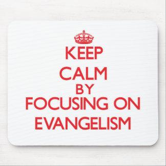 Mantenha a calma centrando-se sobre o EVANGELISMO Mouse Pad