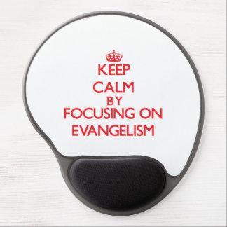 Mantenha a calma centrando-se sobre o EVANGELISMO Mouse Pad De Gel