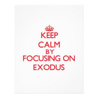 Mantenha a calma centrando-se sobre o ÊXODO Panfleto Personalizados