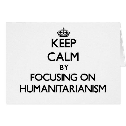 Mantenha a calma centrando-se sobre o Humanitarian Cartoes