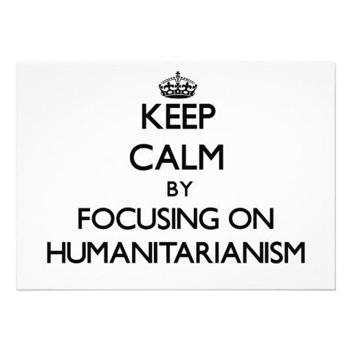 Mantenha a calma centrando-se sobre o Humanitarian Convites