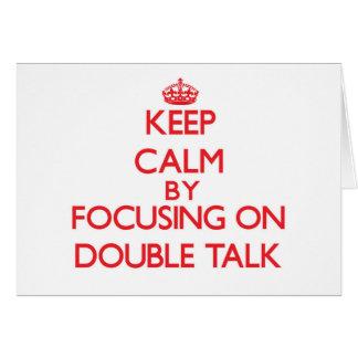 Mantenha a calma centrando-se sobre o linguagem cartão