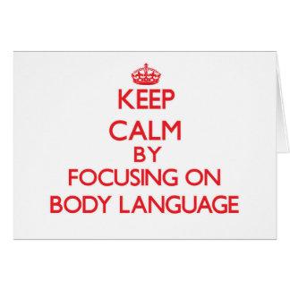 Mantenha a calma centrando-se sobre o linguagem cartões