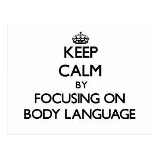 Mantenha a calma centrando-se sobre o linguagem co