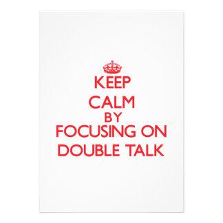 Mantenha a calma centrando-se sobre o linguagem convite