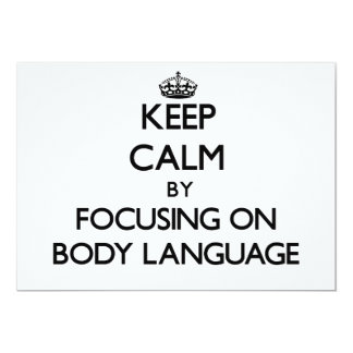 Mantenha a calma centrando-se sobre o linguagem convites