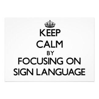 Mantenha a calma centrando-se sobre o linguagem ge